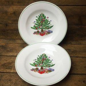 Gibson Set of 2 Christmas Bowls Christmas Tree des